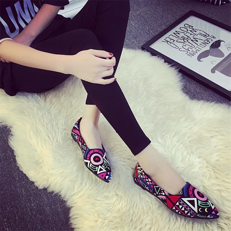 2016 Summer Fashion Hot Style Blue Patchwork shoe High Quality Casual Lazy shoe Women Flat shoe HSC14 (2)