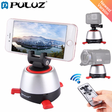 PULUZ Electronic 360 Degree Rotation Panoramic Tripod Head Rotating Pan Head & Remote Controller for GoPro Smartphone DSLR(Red)