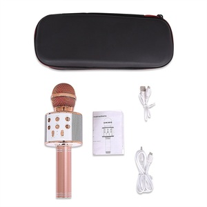 Image 5 - WS858 Wireless Bluetooth Microphone Karaoke Speaker High end Version Mic KTV Player Phone Mike For Computer Stage Conference