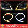 2pcs Set 60CM LED Flexible DRL Strip LED Daytime Running Light With Turn Signal LED Tube