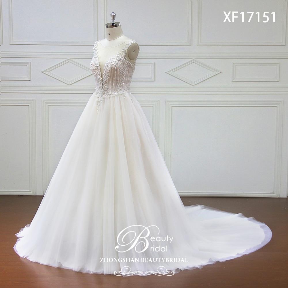 Eslieb High-end op maat gemaakte diepe V bruids Boho trouwjurk 2018 - Trouwjurken - Foto 2
