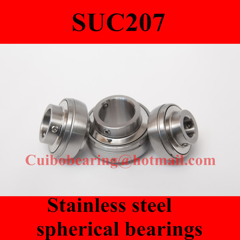 Freeshipping Stainless steel spherical bearings SUC207 UC207 mochu 22213 22213ca 22213ca w33 65x120x31 53513 53513hk spherical roller bearings self aligning cylindrical bore