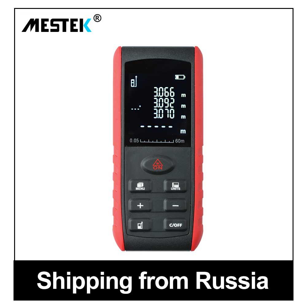 MESTEK Digital Laser Medidor de Distância A Laser gama Telêmetro Laser localizador roleta 60 40 m m 100 m Trena Régua Fita instrumentos de medida