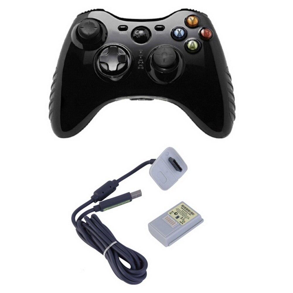2 IN1 4800 mAh recargable ni-mh batería Kit + cable USB carga cargador para la consola Xbox 360 inalámbrico controlador