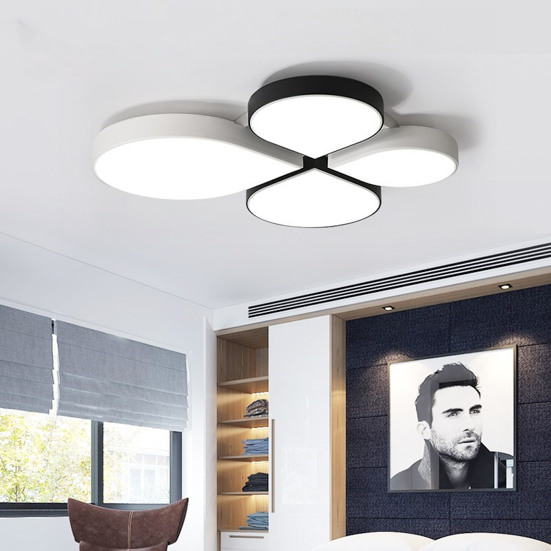 White/Black LED ceiling lighting ceiling lamps for the bedroom living room chandeliers Ceiling for the hall modern ceiling lamp modern ceiling lamp contemporary acryl creative lighting simple design white black luminaire ac for living room hall foyer light