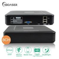 WOASER 8CH 1080P HDMI Mini Full HD ONVIF Video Record NVR Standalone IP 2 0MP Camera