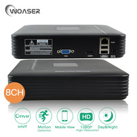 WOASER 8CH 1080P HDMI Mini Full HD ONVIF Video Record NVR Standalone IP 2 0MP Camera