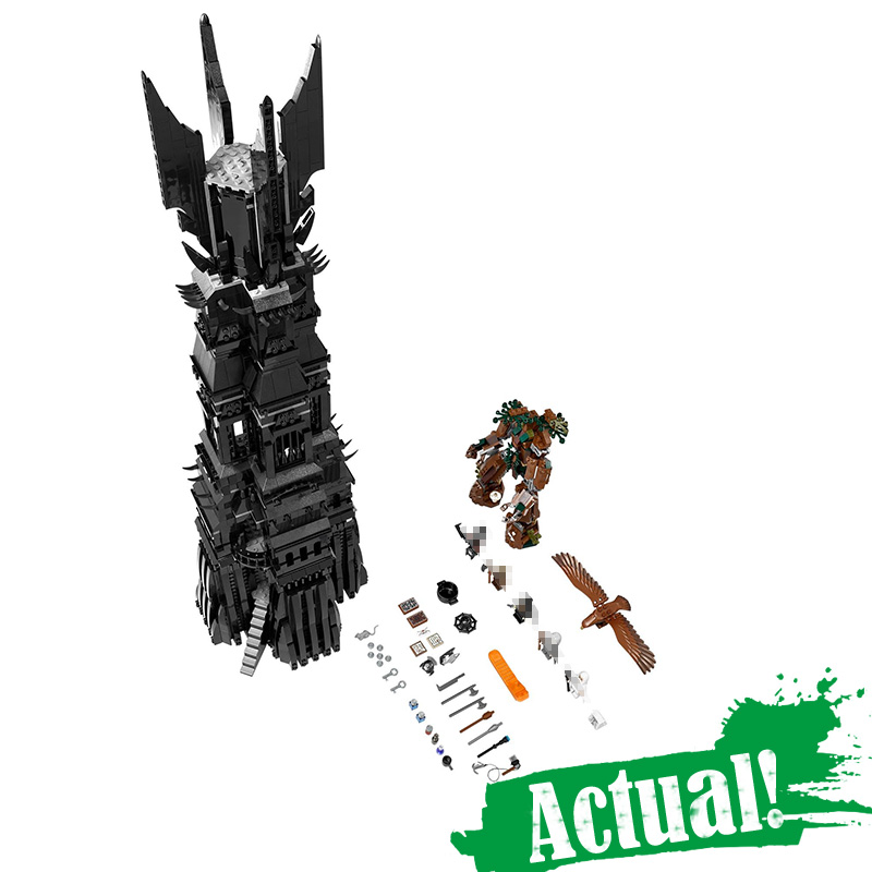 LEPIN 16010 The Lord of the Rings Two Tower of Orthanc GANDALF THE GREY Hobbits 2430Pcs Building Blocks Bricks Compatible 10237 гобелен 180х145 printio the lord of the rings lotr властелин колец