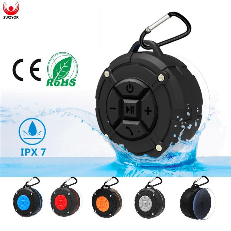 SWZYOR S300 Outdoor Wireless Bluetooth 4.2 Stereo Portable Speaker Built-in mic Shock Resistance IPX7 Waterproof Speaker  Bass