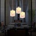 2017 Nova Moda de 3 Cabeças E27 Conduziu a Lâmpada de Pingente de Aço Inoxidável Para Casa Sala de estar Iluminação 110 v-220 v Iluminação do Pendente moderno