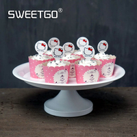 8inch Cake Stand Dessert Plate White Wedding Candy Bar Cake Tools Cupcake Display Plate For Party