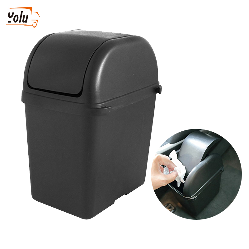 YOLU Car Garbage Can Car Ashtray Car Trash Can Garbage Dust Case Holder Interior Accessories Auto Accessories