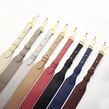 Bag Strap Gold Buckle Handbag Straps Replacement Parts Belts Leather Handles for Women Shoulder Bags Accessories 96cm