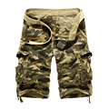 free shipping  2017 Summer men's casual men straight jeans big yards camouflage cargo shorts Shorts size 29-38 50 XYQ
