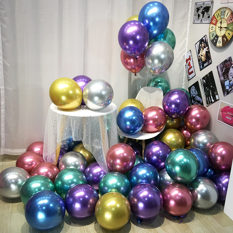 43pcs//lot Pearl Color 12 inches Combo Balloon Rubber Balloon Wedding Decoration