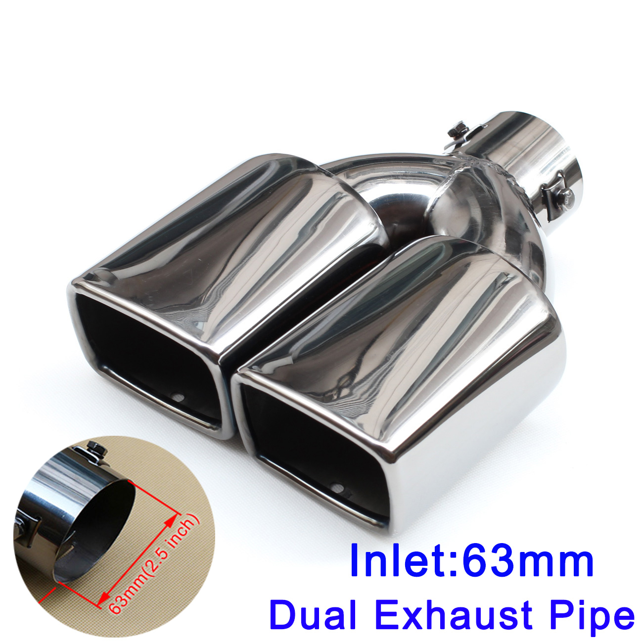 Car Auto Rear Tail Throat Liner Stainless Steel Dual Exhaust Muffler Pipe For MERCEDES BENZ AMG