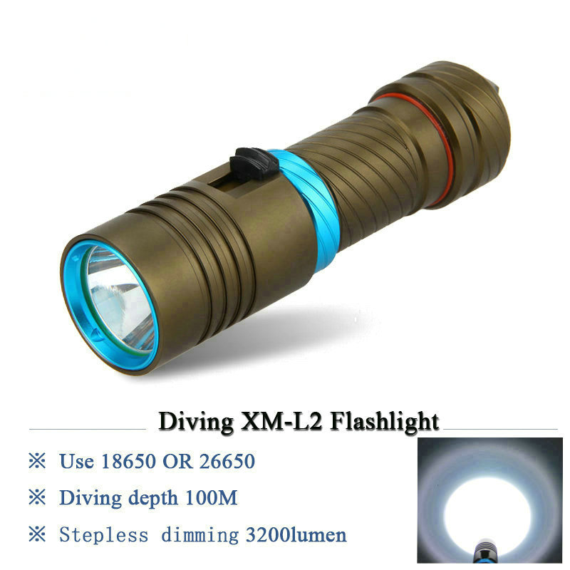 Powerful led diving flashlight cree xm l2 Underwater torch lanterna scuba lamp waterproof 26650 or 18650 battery underwater lamp powerful led flashlight 20000 lumens lanterna led linternas torch 15 x cree xm l2 led waterproof super bright led flashlight