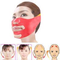Silicone mince visage masque v-line visage Bandage ceinture minceur Facial jade rouleau soins de la peau visage masseur levage mince outil de massage