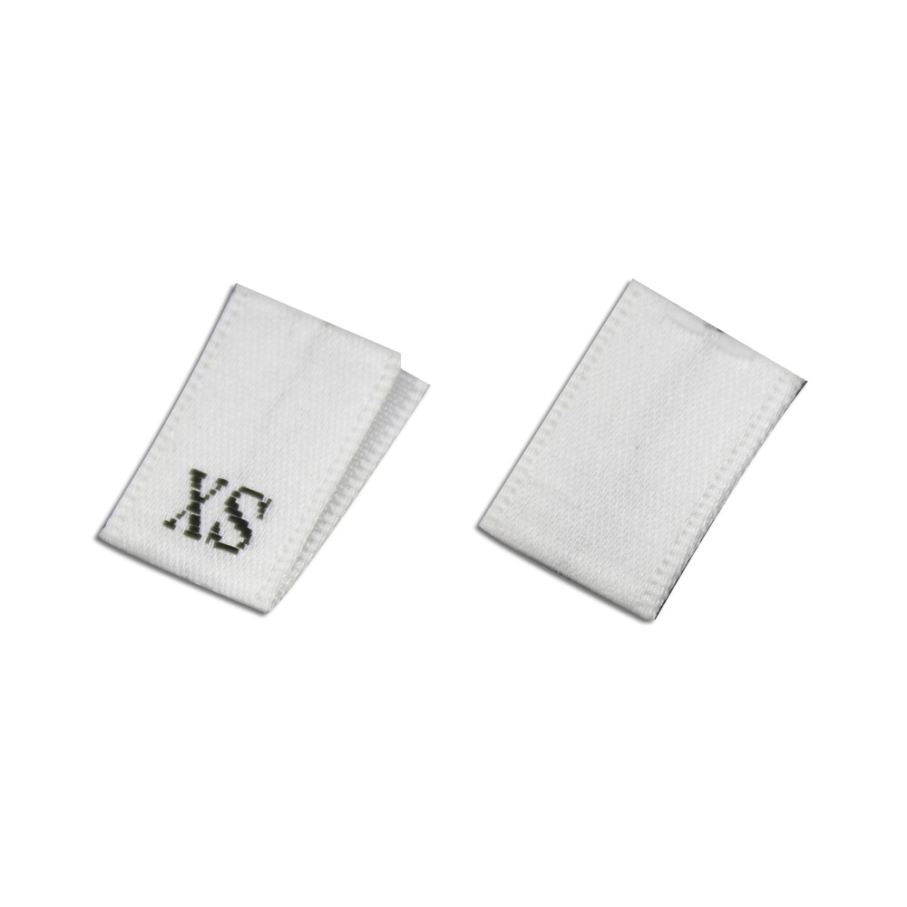 250pcs WHITE WOVEN SEWING CLOTHING SIZE LABEL TAGS 1,2,3,4,5,6,7,8,9,10