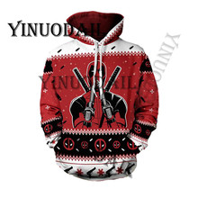 Fans Wear Venom Spiderman 3D Printed Hoodies Captain America Chrismas Cosplay for Men Sweatshirt Marvel Deadpool Movie
