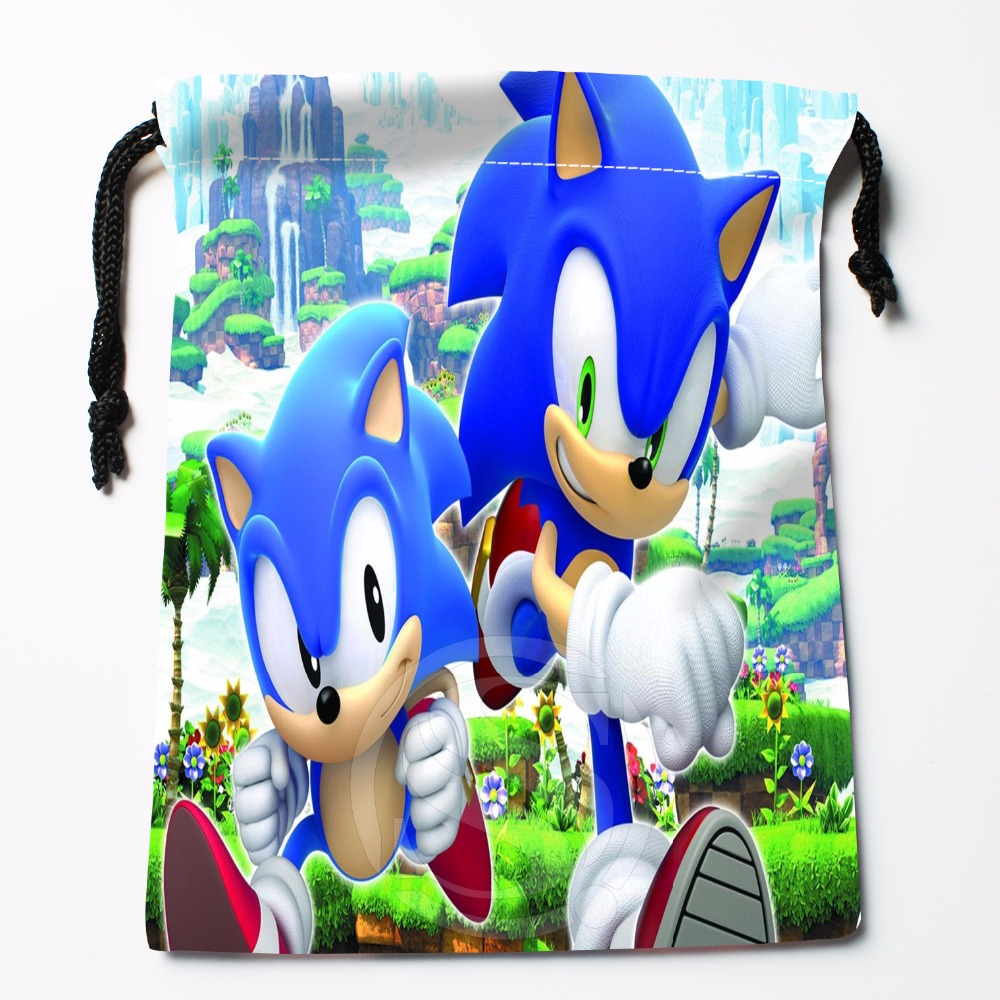 Fl-Q111 New Sonic #12 Custom Printed  Receive Bag  Bag Compression Type Drawstring Bags Size 18X22cm 711-#Fl111