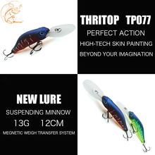 New Fishing Minnow Hard Bait 13G 120MM TP077 Thritop High Quality Carp Artificial Suspending Lure Fish Tackle Accessories