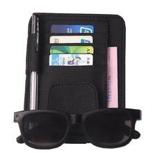 Франшиза автомобильный Стайлинг козырек Органайзер солнцезащитные очки держатель авто солнцезащитный козырек чехол для хранения карт органайзер для билетов Карманный держатель для ручки