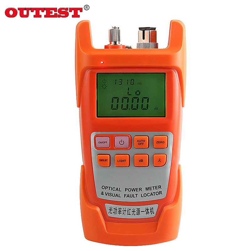 OUTEST DXP-50D Fiber Optical Power Meter -70 -10dbm Visual Fault Locator 10km Fiber Optical Cable Tester Pen 10MW noyafa nf 907 2 in 1 optical multimeter handheld optical fiber tester lcd optical power meter tester visual fault locator