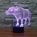 3D Optical Illusion 7 Color Water Buffalo Touch Switch LED Desk Table Light Lamp