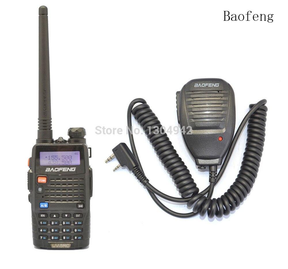 Black BAOFENG UV-5RC VHF/UHF Dual Band ham walkie talkie + BaoFeng Speaker Mic Handy Radio Receiver With HeadfoneBlack BAOFENG UV-5RC VHF/UHF Dual Band ham walkie talkie + BaoFeng Speaker Mic Handy Radio Receiver With Headfone
