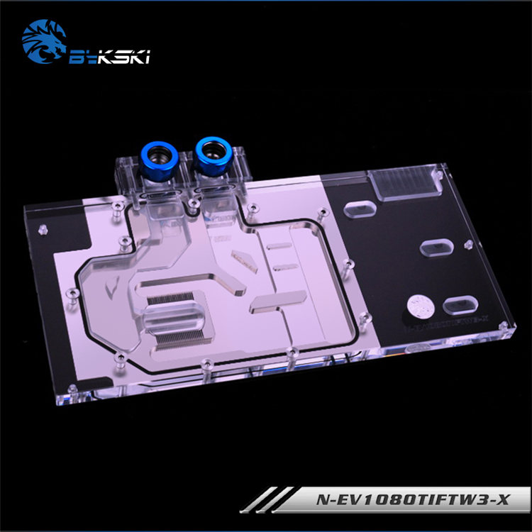 Image 2 - Bykski N EV1080TIFTW3 X, Full Cover Graphics Card Water Cooling Block RGB/RBW for EVGA GTX1080Ti FTW3 GAMING-in Fans & Cooling from Computer & Office