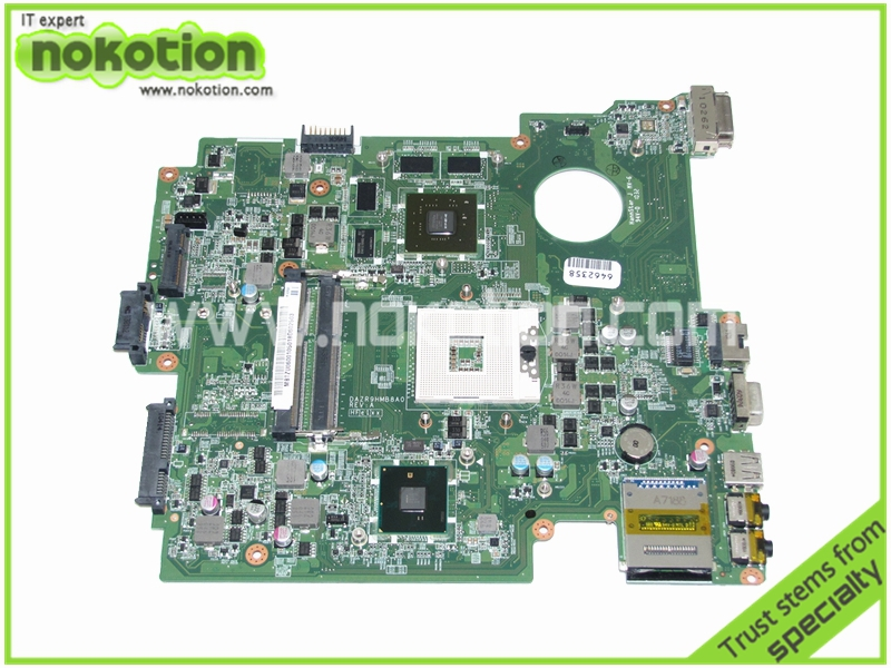 MB.TZU06.001 MBTZU06001 DAZR9HMB8A0 Laptop Motherboard for Acer TravelMate 8572 Series Intel HM55 Nvidia GT330M working well