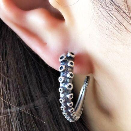Regalrock gothique Punk queues Boho pieuvre tentacules boucles d'oreilles