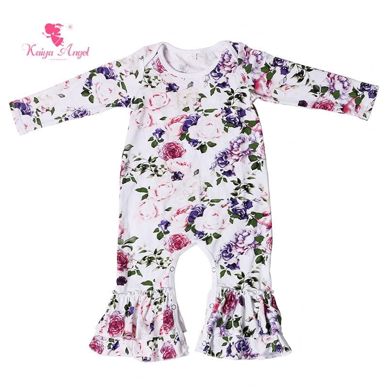 72c9c75744a4 Kaiya Angel 2017 Baby Romper Long Sleeve Ruffles Newborn Cotton ...