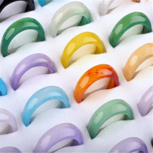 Image 5 - PINKSEE 50Pcs/Lot Mixed Vintage Natural Natural Stone Ring For Women Unisex Fashion Charm Finger Rings Jewelry Gifts Wholesale
