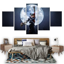 5 Piece Fantasy Art Paintings Prey Mooncrash Game Poster Artwork Canvas for Home Decor Wall