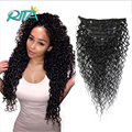 Kinky Curly Clip In Human Hair Extension 100g Curly Clip Ins Hair Extension Top Quality Kinky Curly Hair Clip In Extensions
