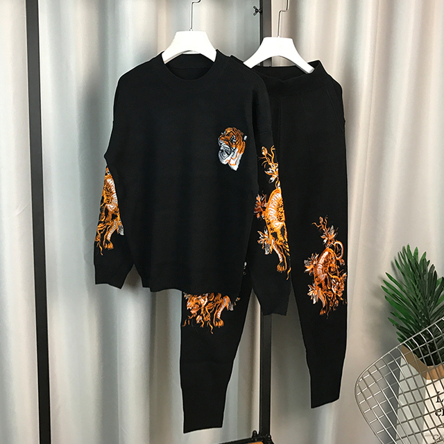 2659192bd 2018 Autumn Winter Women s Embroidered Long sleeved Pullover Sweater ...