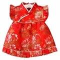 Buenos Ninos Estilo Chinês Cheongsam Bebê Vestido Para O Desgaste Do Desempenho