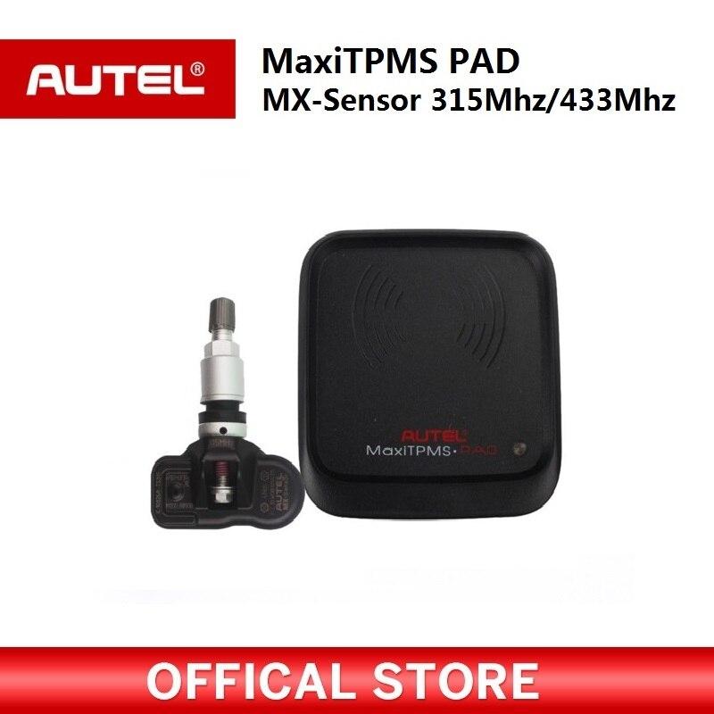 Date Autel MaxiTPMS PAD TPMS Capteur Programmation Accessoire Dispositif et Autel 2 dans 1 MX-Capteur 433 mhz 315 mhz Universel Programmeur