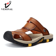 VESONAL 2019 Summer Non-slip Outdoor Hiking Shoes Men Casual