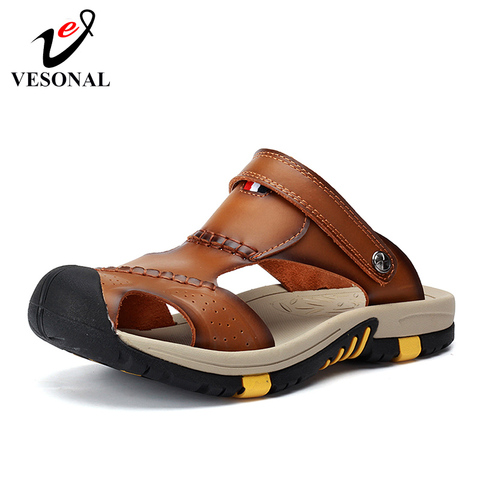 VESONAL 2019 Summer Non-slip Outdoor Hiking Shoes Men Casual Sandals Breathable Fashion Comfortable Beach Sandals 9087 Pakistan