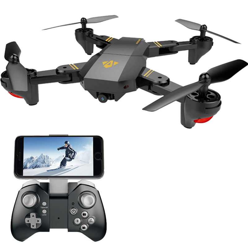 Visuo XS809HW XS809W Selfie Drone With Wide Angle HD Camera Wifi FPV RC Foldable Quadcopter Helicopter Mini Dron VS Eachine E58 xs809hw fpv dron selfie drones with camera hd 2mp folding quadcopter one key return headless rc helicopter remote control toys