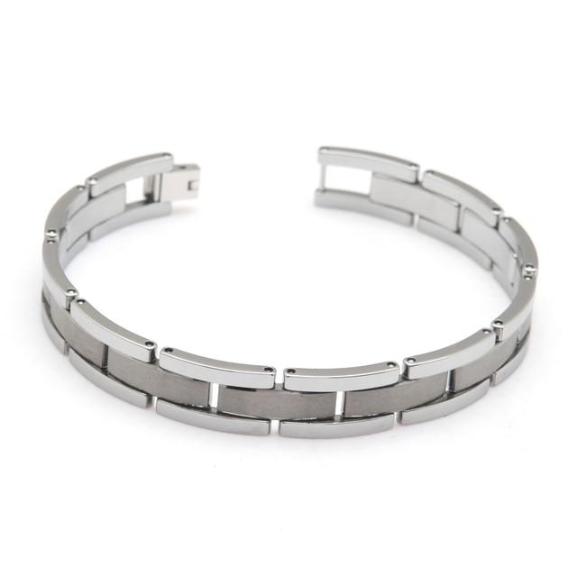 tungsten carbide Simple Graceful Design 23cm Bracelet Tungsten Bracelet For Gentlemen Width 1.2cm Thickness 3mm Weight 90g