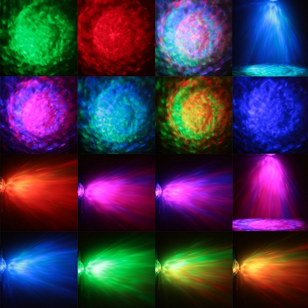 Aimbinet New 3W LED Crystal magic ball stage light Water Wave RGB Effect  with Remote Control for KTV Party Wedding DJ Disco novelty glass magic plasma ball light 3
