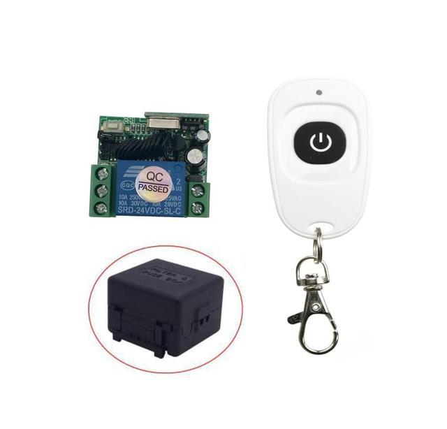 DC 24 v 1CH ミニ RF ワイヤレスリモート制御光スイッチ学習コード受信機 + トランスミッタ 315/433MHZ