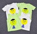2016 лето бобо выбирает Детские топы хлопка футболку и жилет Big head клоун pattern малыш мальчик в девочке одежда скидка