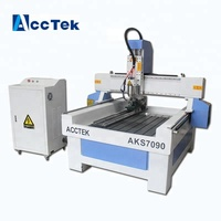 2018 new model marble router AccTek 7090 9015 1212 granite stone 3d router cnc engraving machine