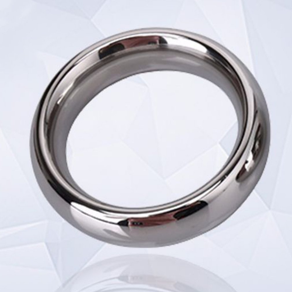 40/45/50mm Stainless Steel Penis Delay Training Ring Sex Toy for Men Cock Delay Ejaculation Time Ring Foreskin Resistance Ring40/45/50mm Stainless Steel Penis Delay Training Ring Sex Toy for Men Cock Delay Ejaculation Time Ring Foreskin Resistance Ring