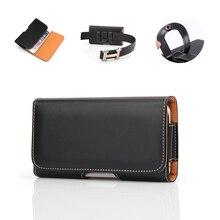 mobile phone Bag Case Belt Clip Holster Black Leather holder Case For Redmi Note 7 5 MI A1 A2 lenovo z6 Pro Cover цена